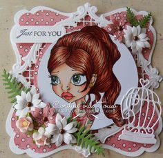 "Copic Marker Benelux ~Cardstock - Bazill Design papier : Bildmalarna ""Cute collection"" Die's: Go Kreate Large frames frilly 2 Go Kreate large inbetween frames frilly 2 Joy craft & Spellbinders Elizabeth craft Bunch of flowers MFT Wild Greenery Text LOTV simply sophisticated."