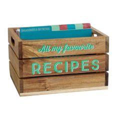 Jamie-Oliver-Scribble-&-Store-Acacia-Recipe-box  sc 1 st  Pinterest & Wooden Log Storage Box (50cm x 38cm x 35cm) | Country Cottage ...