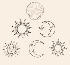 Image can include: Draw - Draw - draw diy tattoo images - tatto Kunst Tattoos, Bild Tattoos, Cute Tattoos, Tattoo Drawings, Body Art Tattoos, Small Tattoos, Tatoos, Tiny Sun Tattoo, Tattoo Sun