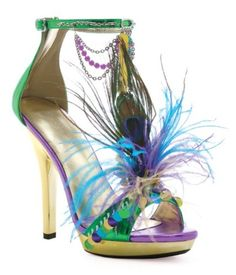This is the shoe I am thinking about wearing with my wedding dress for the Mardi Gras Theme.