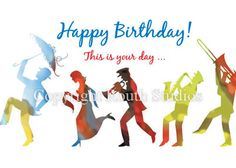 """BIRTHDAY GREETINGS FROM NEW ORLEANS   Second Line Birthday Parade"""" - Birthday Cards - RouthCollection"""