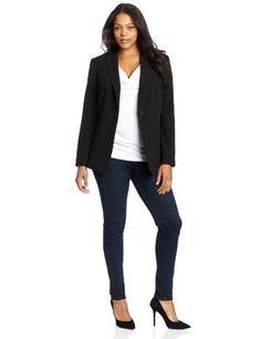 b09fbb65007 Calvin Klein Women s Plus-Size 1 Button Jacket