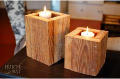 A DIY candle box made of salvaged wood. Large and luscious! www.huntandhost.com