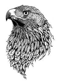 Resultado de imagen para blackwork geometric eagle tattoo