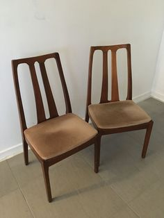 4 x nathan furniture #dining #chairs - 60s teak g plan upcycle ...