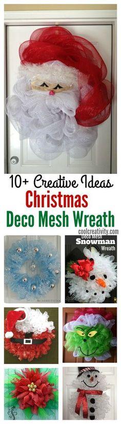 10+ Creative Christmas Deco Mesh Wreath Ideas