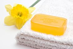 Soap and flower - Stock Photo , Yellow Flowers, Soap, Stock Photos, Bar Soap, Soaps