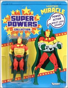 Super Powers Collection Action F. Mister Miracle (Scott Free), Jan 1986 Action Figure by Kenner Dc Comics Action Figures, Dc Comics Characters, Retro Toys, Vintage Toys, Kenner Toys, New Gods, Dc Heroes, Classic Toys, Old Toys