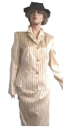 Apart Kostüm 100% Seide beige gestreift Gr 40 (5002)Willkommen im  www.Chelsea-Fashion-Glamur.de  Shop Secondhand und Neuware Mode zu günstigen Preisen   Dies und Das für jeden was.....