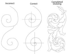 Drawing The Acanthus Leaf Lost Art Press - This Is An Excerpt From Carving The Acanthus Leaf By Mary May Drawing The Symmetrical S Curve This Example Works With Multiple Curves And Shows How To Draw A Symmetrical Desig Islamic Art Pattern, Pattern Art, Leaf Drawing, Painting & Drawing, Baroque Ornament, Motifs Art Nouveau, Filigree Tattoo, Ornament Drawing, Leather Tooling Patterns