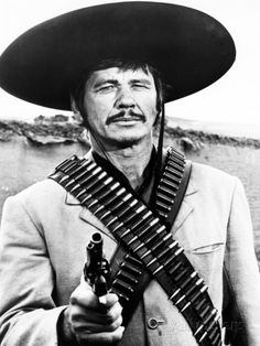 """Charles Bronson in """"Villa Rides"""" Westerns, Actors Male, Actors & Actresses, Old Movies, Vintage Movies, Actor Charles Bronson, Herbert Lom, Z Cam, The Lone Ranger"""
