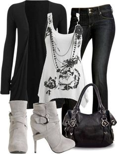 black and white casual outfit #blackandwhite #outfit #spring