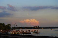 Moon Rise Over Wayzata Bay, Lake Minnetonka MN