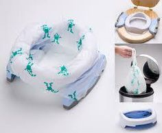 Buy Potette Plus Convertible Travel Potty, White/Blue from our Potty Training range at John Lewis & Partners. Portable Potty, Carry On Bag, Potty Training, Baby Essentials, Baby Shop, Travel Bag, Convertible, Trainers, Baby Kids