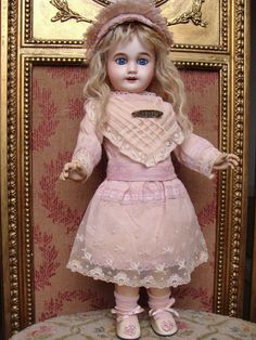 "Sweet antique french cabinet size LIMOGES Bebe, ""Chérie"" model."
