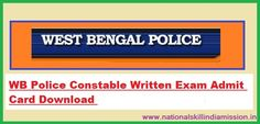 WB Police – Constable (Male) 2015 Written Test Admit Card 2017  WB Police – Constable (Male) 2015 Written Test  Admit Card 2017: West Bengal Police Recruitment Board has recently released admit card for attending written examination for the post of Constable (Male) in West Bengal Police-2015. Examination will be held on 22-01-2017. Candidates who have applied for this post can download their call letter at below link…
