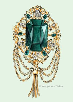 vintage emerald brooch... sparkly and fabulous! @JoannaLBaker