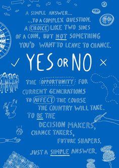 Yes or No - James Grover | Freelance Illustrator Exeter, UK