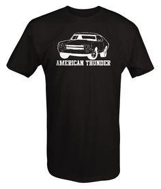 American Thunder Chevy Chevelle Nova SS Classic Muscle Car T Shirt - Thunder - Ideas of Thunder gift #Thundergift Nova Car, Thunder And Lightning, Chevy Chevelle, Muscle Cars, Colorful Shirts, Cricut, Drop, American, Classic