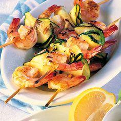 Garnelen-Zucchini-Spieße