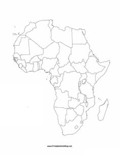 This Printable Map Of The Continent Of Africa Is Blank And Can Be Used In  Classrooms, Business Settings, And Elsewhere To Track Travels Or For Many  Other ...