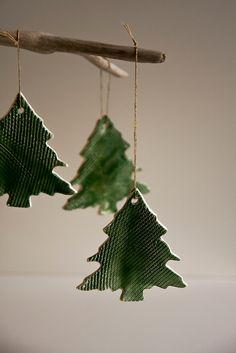 Christmas Tree ornaments, christmas decoration, holiday decor, green, festive holiday home decor, small christmas gift, kris kindle