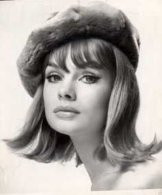 THis flip and cute bangs are so mod still! Jean Shrimpton, 1960s photo by John French.