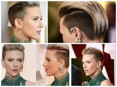 Scarlett Johannson undercut short hair