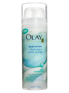 Oil of Olay Cleansers - use before you moisturize. I use this with my CLARISONIC brush its inexpensive too just two pumps onto my face then start my brush up rotate it in Cir les the micro beads are magical Drug Store Face Moisturizer, Homemade Face Moisturizer, Natural Face Moisturizer, Pore Cleanser, Skin Care, Cleansers, Pumps, Olay Products, Beauty Products