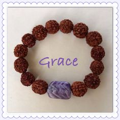 Rudraksha Seeds & Chevron Amethyst Bracelets - Seven Chakra Jewelry Collection by Expressions of Grace.  Therapeutic Healing Crystals for Energy Balance and Natural Healing. Meditation Bracelets. Yoga Bracelets. Kundalini Meditation. Namaste.  Let the unboxing begin!