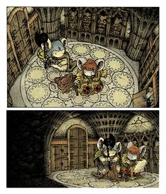 Haven Guildroom from Mouse Guard: The Black Axe.  David Petersen's Blog