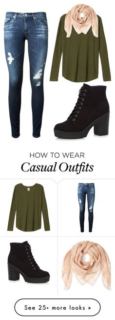 """""""Simple Casual"""" by aowens99 on Polyvore featuring AG Adriano Goldschmied and Alexander McQueen"""