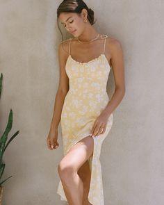 Women's Tie-Strap Ruched Midi Dress | Women's Dresses & Jumpsuits | Abercrombie.com White Maxi Dresses, Beach Dresses, Women's Dresses, Jumpsuit Dress, Bodycon Dress, Summer Dresses Sale, Summer Outfits, Denim Outfit, Denim Shorts
