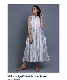 Frock Fashion, Indian Fashion Dresses, Dress Indian Style, Indian Designer Outfits, Fashion Outfits, Simple Kurti Designs, Kurta Designs Women, Blouse Designs, Cotton Dress Indian