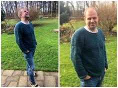 Tento luxusní svetr upletla Peťa Nemravka jako dárek podle návodu od Jared Flood z klubíček Yak Tweed.  Návod najdete na Ravelry. Tweed, Men Sweater, Sweaters, Fashion, Moda, Fashion Styles, Men's Knits, Sweater, Fashion Illustrations