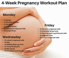4 Week Pregnancy Workout plan - No Gym needed.  http://michellemariefit.com/4-week-pregnancy-workout-plan/