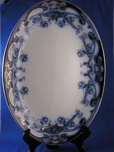 "Royal Staffordshire Pottery Burslem England Blue Flow Blue ""Iris"" from darkflowers on Ruby Lane Flow Blue China, Blue And White China, Love Blue, Blue Dishes, White Dishes, Blue Pottery, Antique Pottery, English Pottery, Blue Plates"