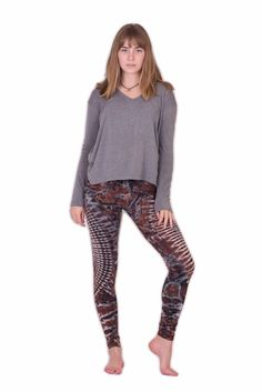 Brown Oval Swirls Tie Dye Leggings - Koia Collective Tie Dye Leggings, Swirls, Sweatpants, Brown, Fabric, Cotton, Collection, Design, Women