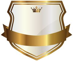 White Label with Gold Banner PNG Clipart Image