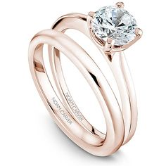 I'm now obsessed with Noam Carver's rose gold engagement rings. The simple ones are so beautiful, I love the lighter tone of rose gold. From $550 (which is the icing on the cake (; )