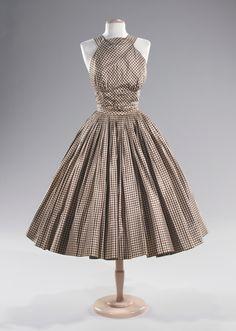Norman Norell dress ca. 1955 via The Costume Institute of the Metropolitan Museum of Art