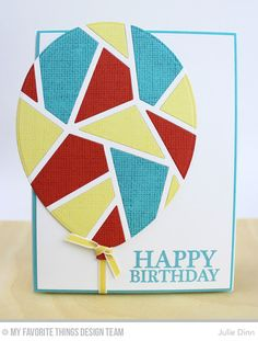 Celebrate You, Linen Background, Abstract Cover-Up Die-namics, Balloon STAX Die-namics - Julie Dinn  #mftstamps