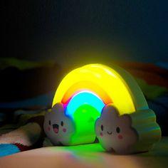 La colorida luz del arco iris inteligente palmeó luces