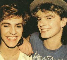 Nick and John :)  Duran Duran!!! Aww I had this pic on my wall too!
