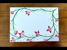 in this video learn how to make beautiful border design with sketch pens for project for school, for card making, etc i showcase simple to complex form of bo. Boarder Designs, Page Borders Design, Outline Designs, Front Page Design, Front Cover Designs, File Decoration Ideas, Page Decoration, Paper Flower Patterns, Notebook Cover Design
