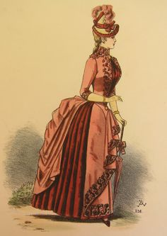 Parismode late bustle fashion plate 52. I'm usually not a fan of late bustle period, but I love almost everything about this one