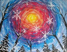 Holiday Art Projects To Draw 70 Best Ideas Night Painting, Winter Art Projects, Christmas Art, Art Painting, Holiday Art Projects, Holiday Art, Painting, Holiday Painting, Painting Crafts