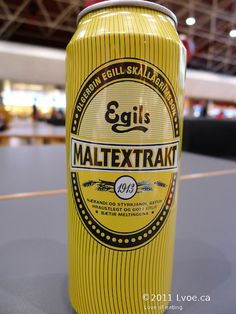 Egils Malt Extrakt: drink similar to dark beer, it's sweet and can be classified as a soft drink