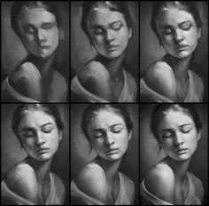 Portrait Practice 3 Process by AaronGriffinArt.deviantart.com on @DeviantArt