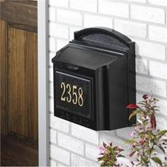 Whitehall 16103 Wall Mount Mailbox in Black by Whitehall Products. $186.99. This is the Whitehall 16103 personalized wall mount mailbox package in black. This wall mount mailbox makes a big first impression to any home. The extra large capacity mailbox holds over-sized envelopes and magazines without folding.